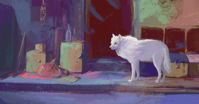 white wolf by anyie