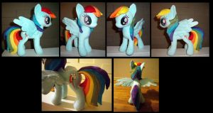 Rainbow Dash Plush - Comission by fireflytwinkletoes