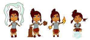 Chibi commission: Avatar Korra by firestar21