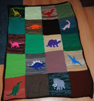Dinosaur Blanket by themagpiesnest
