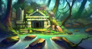 temple in the jungle by lepyoshka