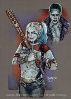 Suicide Squad Harley Quinn and Joker 2016 by scotty309