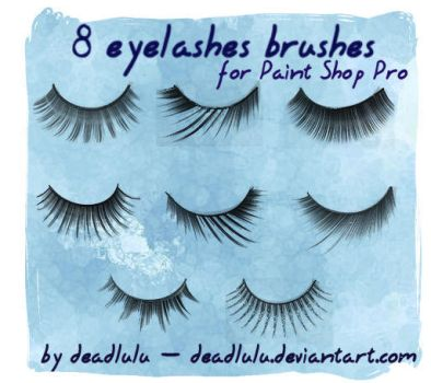 8 Eyelashes Brushes - for PsP by LaVolpeCimina