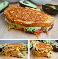 Bacon, Guacamole Grilled Cheese Sandwich Ingredien by tracylopez