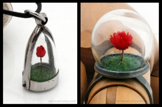 Valentine's red rose jewellery by Xerces