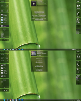 Kaz Suite for Rainmeter in action by kaz28100