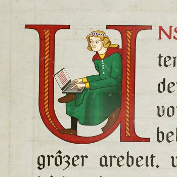 Inhabited Initial by Eisenholz