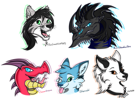 Headshot Gifties! by Enigmatic-Wolf