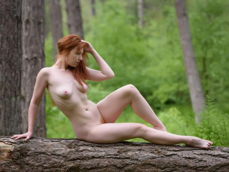 Chrissie in the Woods by Fox2006
