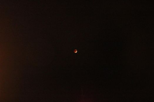 Glimpse of the red moon by mayaelyn