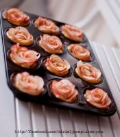 Apple pie roses with recipe by MirielDesign