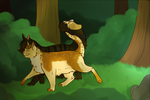 A Forest Stroll +Commission+ by PatchyFallenstar