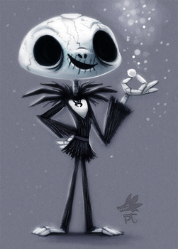 Daily Paint #647. Jack Skellington by Cryptid-Creations