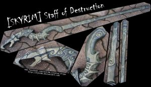 [SKYRIM] Staff Of Destruction by Dj3r0m