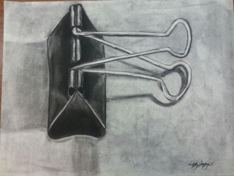 Charcoal Binder Clip by LadyJaney01
