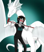 Homestuck: Terezi and Lusus by Cheeco6247