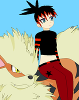 Raven Sitting On Arcanine by ShadowFireDcon643