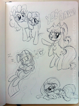 Pony Doodles 2 by SketchySweet