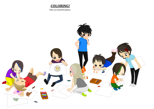 COLORING with friends by MelloLuxiaTobi
