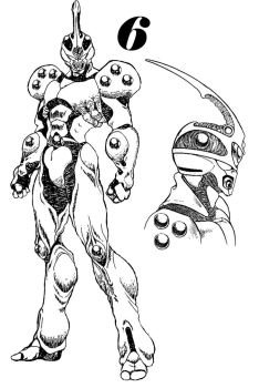 Guyver 6 Line art by lokicube