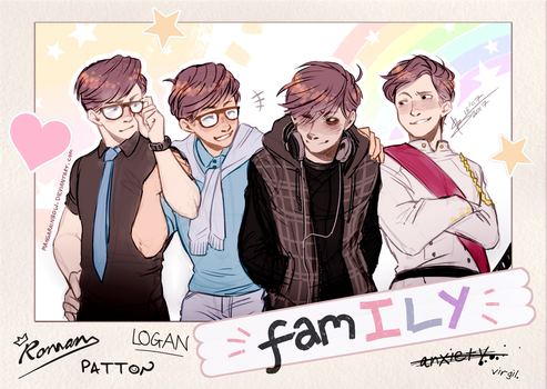 Sanders Sides - famILY by ABD-illustrates