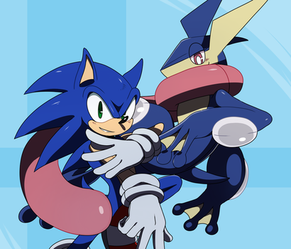 .:Sonic and Greninja:. by ss2sonic