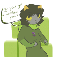 Hey look it's a Nepeta doodle. by squidForager