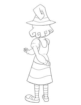 Erna the Witch - Turnaround - Ink by mosobot64