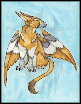 Original: Watercolor and Ink Gryphon 2015 by AirRaiser