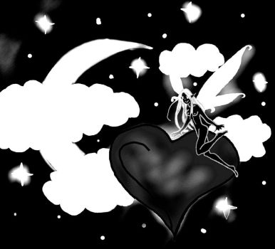 Black And White Fairy Love by EvilBlackWolf