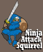 Ninja Attack Squirrel by TheBurningDonut