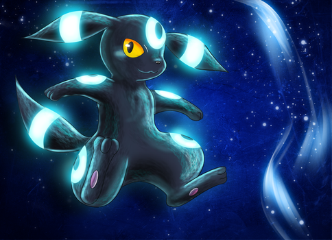 Shiny Umbreon by Deruuyo