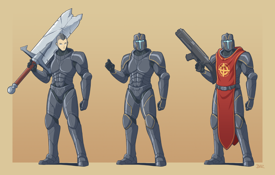 Michael and Orthodox Power Armour by Blazbaros