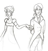 Marcus and Didyme: Regency by sunni-sideup