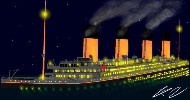 Titanic Photoshop test 2009 by Admiral-Kevin