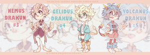 Adoptable: Drakuns Species (1 Left) by kanodraw