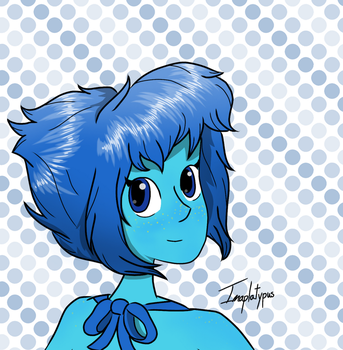 Lapis and Polka Dots by Imaplatypus