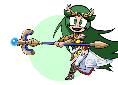Animation - Lady Palutena by Undead-Niklos