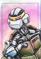 Metalhead sketch card by JLWarner