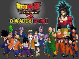Dragon Ball Z Characters Set1 by The-Lonely-Wolf
