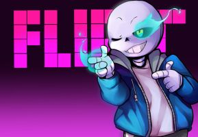 Sans Uses... Flirt?! by synistersyrup