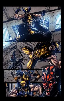 Wolvrine Vs Darth Maul pg2 - colors by ZethKeeper