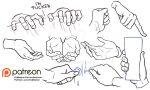 Hands reference sheet 7 by Kibbitzer
