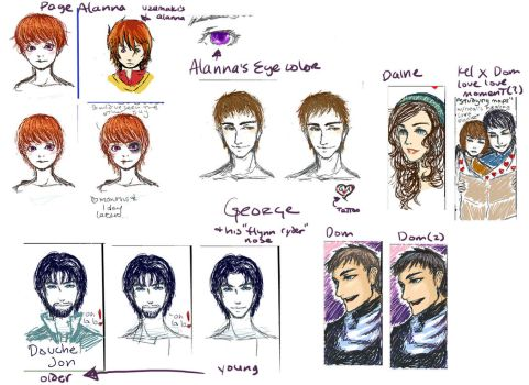 iscribble tortall sketches 2 by riotycurls
