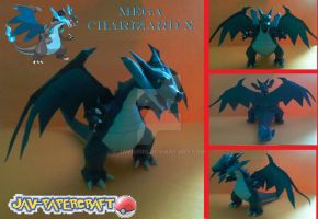 Mega Charizard x papercraft + download by javierini