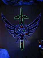 Triforce master sword Night by warheart-warrior