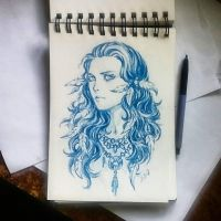 Instaart - Tribal-style girl by Candra