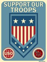 Support our Troops by sixlinepunk