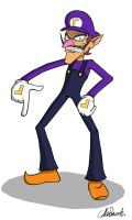 Waluigi by weirdozinc